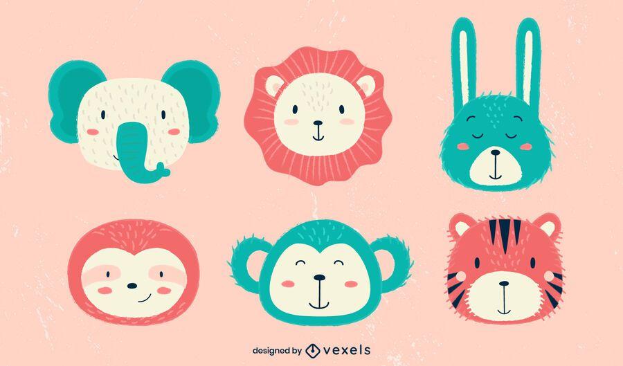 Cute Animals Illustration Pack