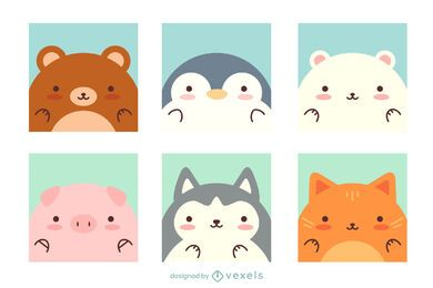 Cute Kawaii Animal Pack