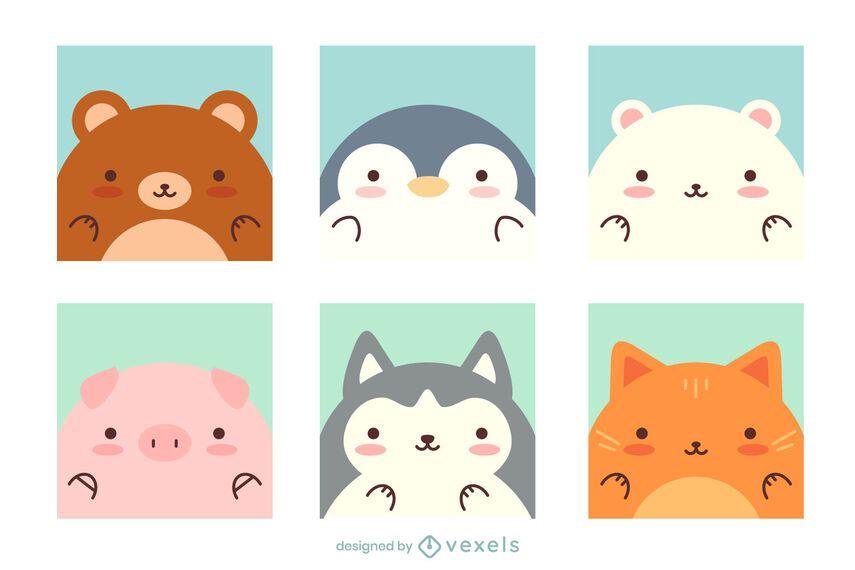 Cute Kawaii Animal Pack