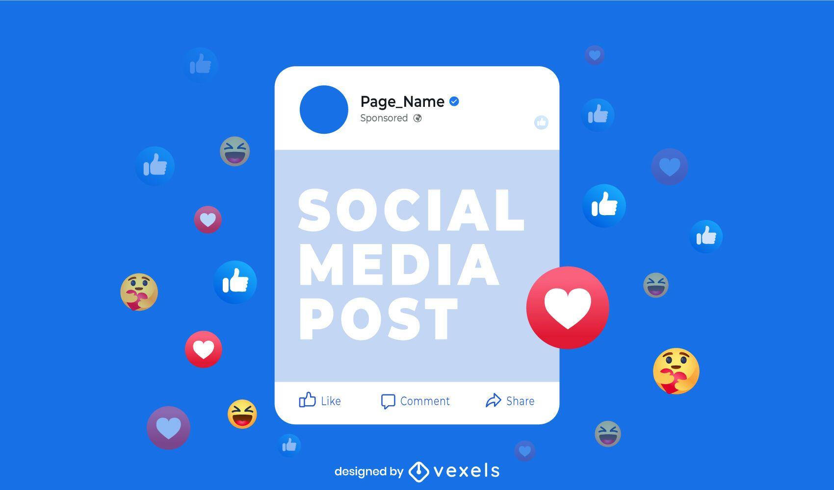 Facebook post interface light