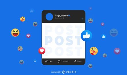 Facebook post interface dark