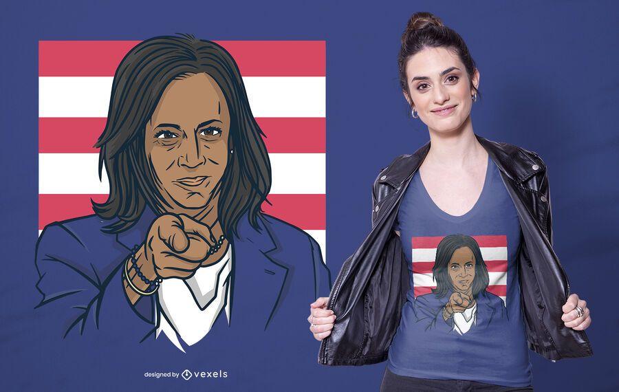 Design de camiseta Kamala Harris