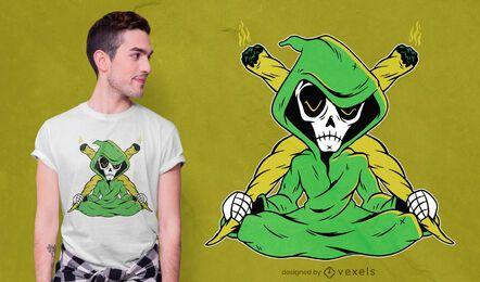 Grim reaper joint t-shirt design