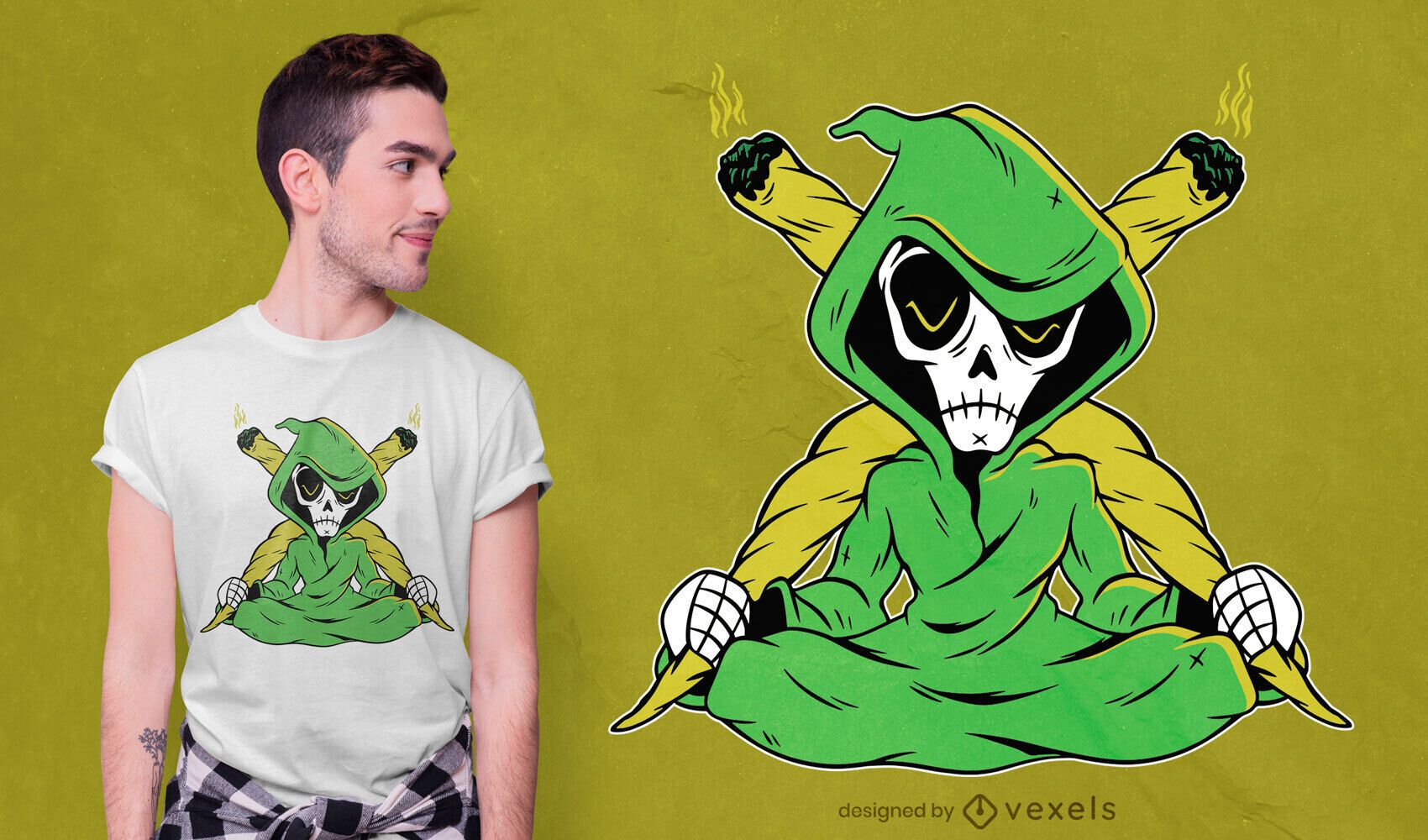Design de camiseta da junta do Ceifador