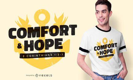 Diseño de camiseta Comfort & Hope