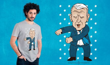 Flossing biden t-shirt design