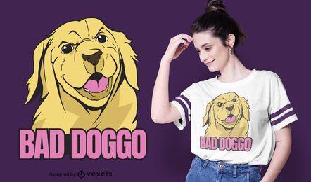 Design ruim de camiseta doggo