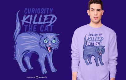 A curiosidade matou a camiseta do gato