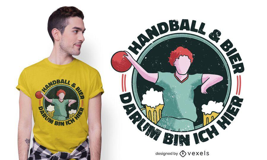 Handball beer t-shirt design