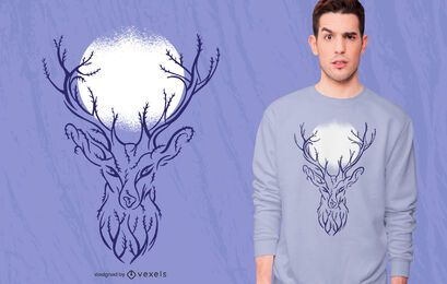 Tree Deer T-shirt Design
