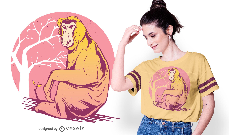 Proboscis Monkey T-shirt Design