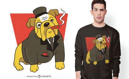 Diseño de camiseta de Bulldog Inglés adecuado