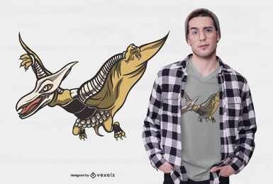 Armored Pterodactyl T-shirt Design