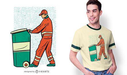 Diseño de camiseta Garbage Man
