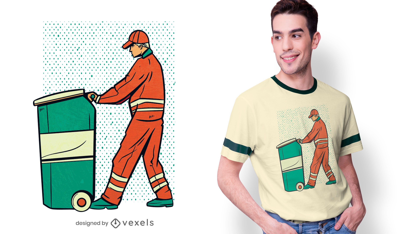 Garbage Man T-shirt Design
