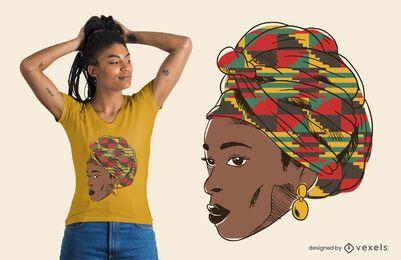 Design de camiseta feminina africana