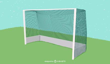 Ilustração do gol de hóquei em campo