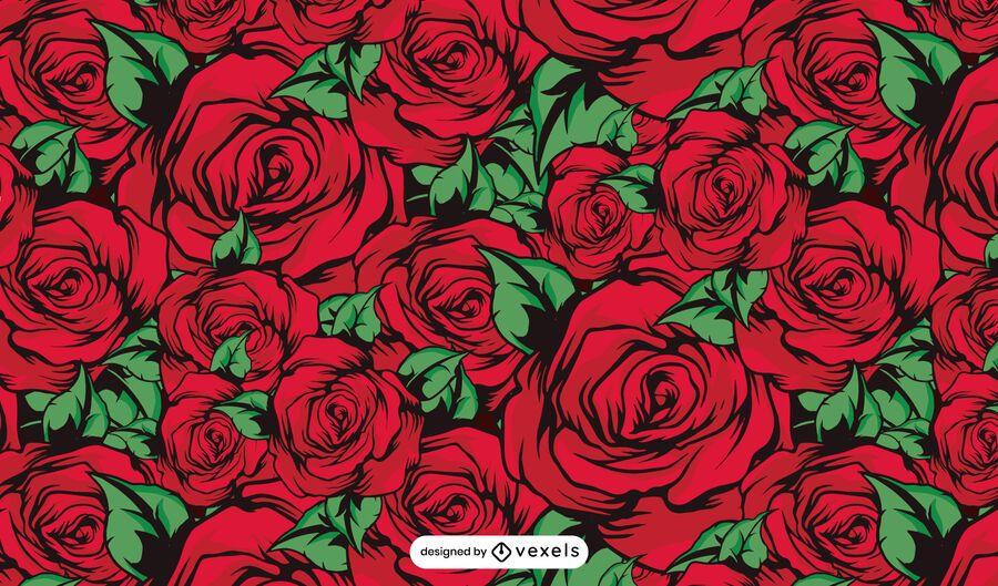 Red roses pattern design