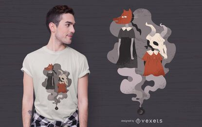 Design de camisetas para meninas assustadoras