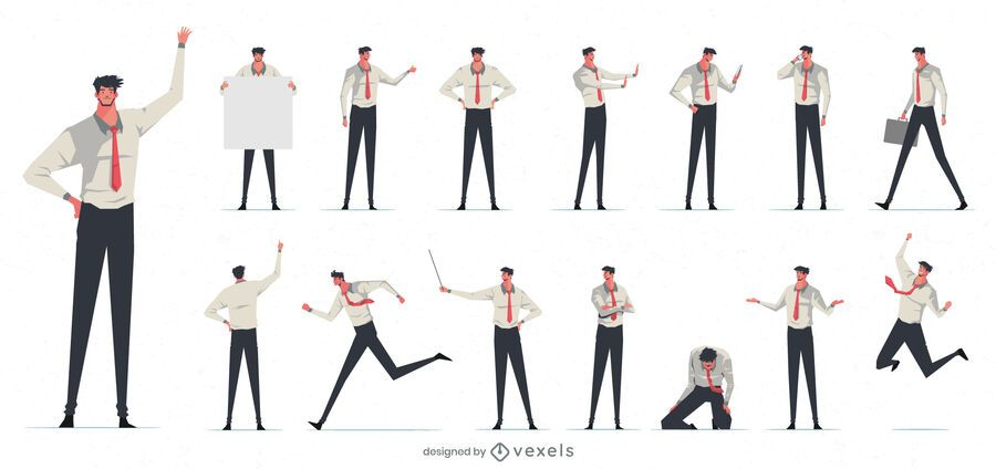 Businessman character collection