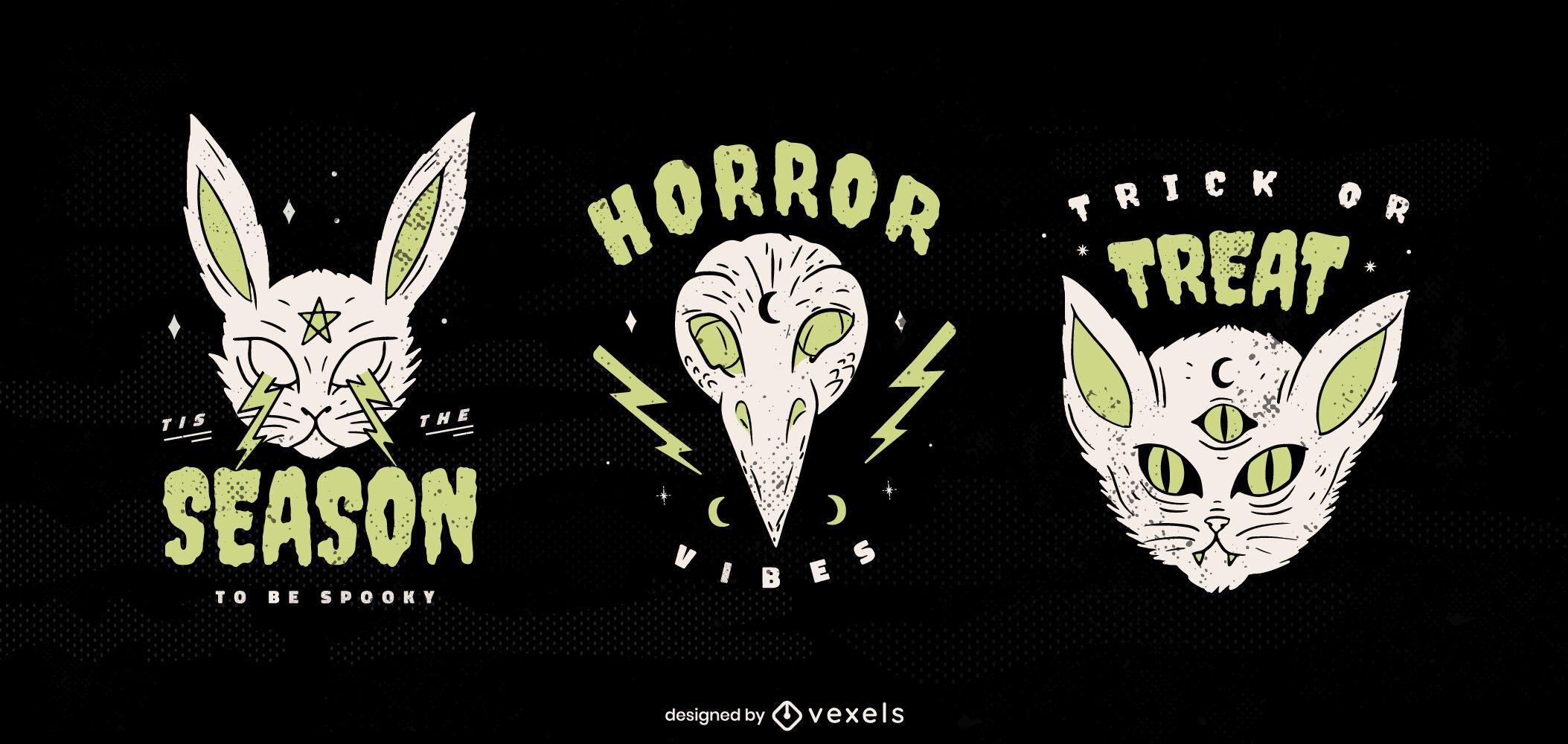 Pacote de emblemas de criaturas de Halloween