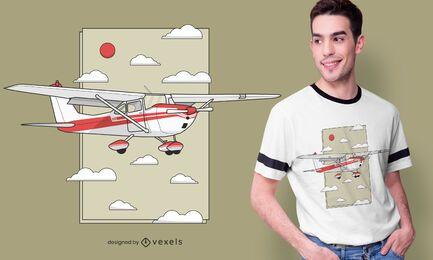 Design de camiseta de avião voador