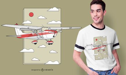 Flying plane t-shirt design