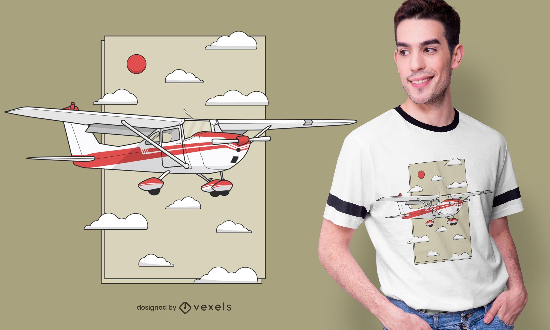 Flying plane t-shirt design