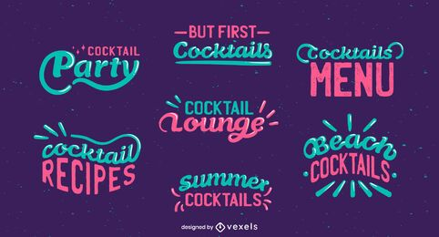 Cocktail lettering set
