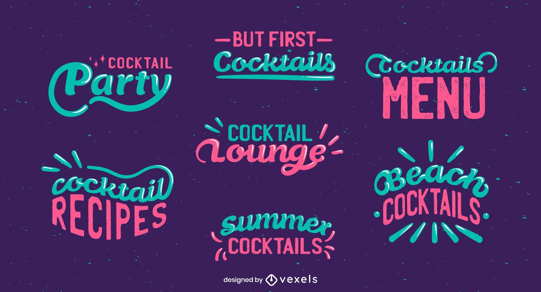 Cocktail lettering set