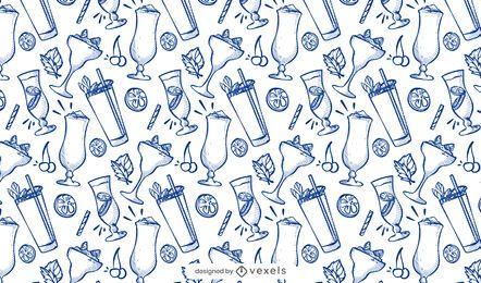 Desenho de padrão de coquetel