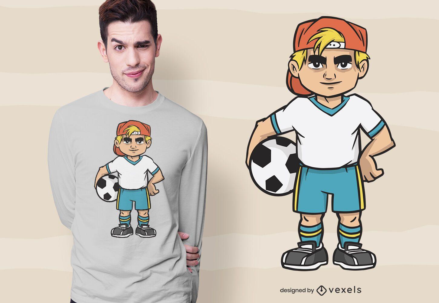 Soccer boy t-shirt design