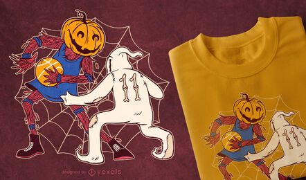 Halloween Basketball T-Shirt Design