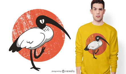 Design de t-shirt ibis branca