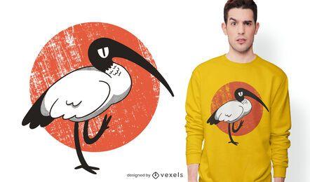 Diseño de camiseta ibis blanca