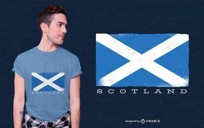 Diseño de camiseta de bandera de Escocia