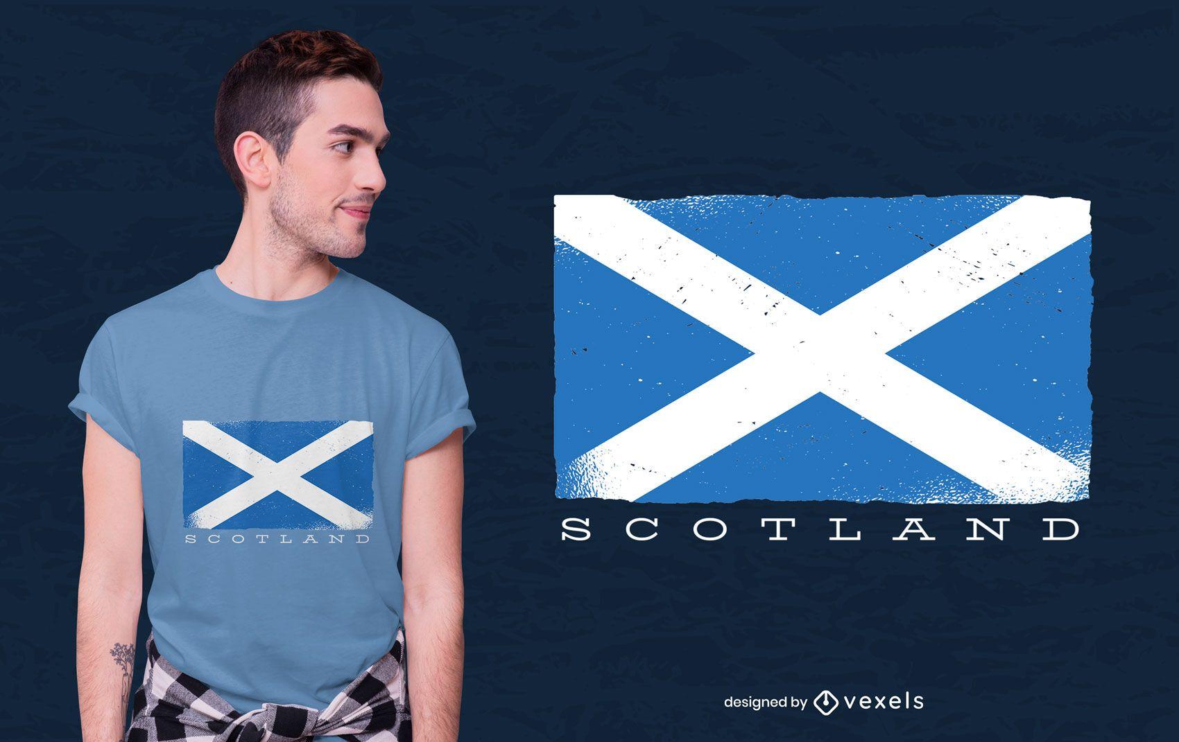 Scotland flag t-shirt design