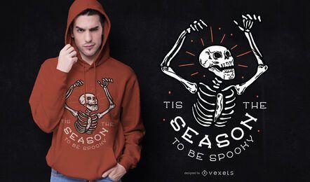 Design de t-shirt de halloween assustador na temporada