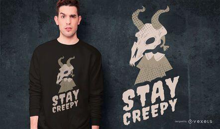 Diseño de camiseta de criatura de niña de Halloween