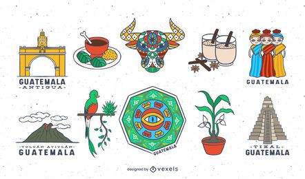 Conjunto de elementos de guatemala