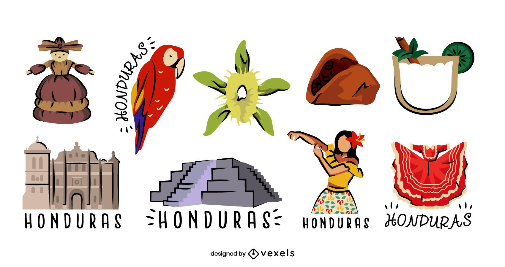 Honduras elements set