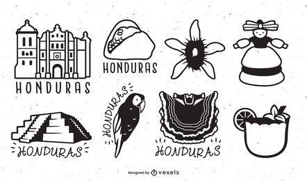 Conjunto de trazos de elementos de Honduras