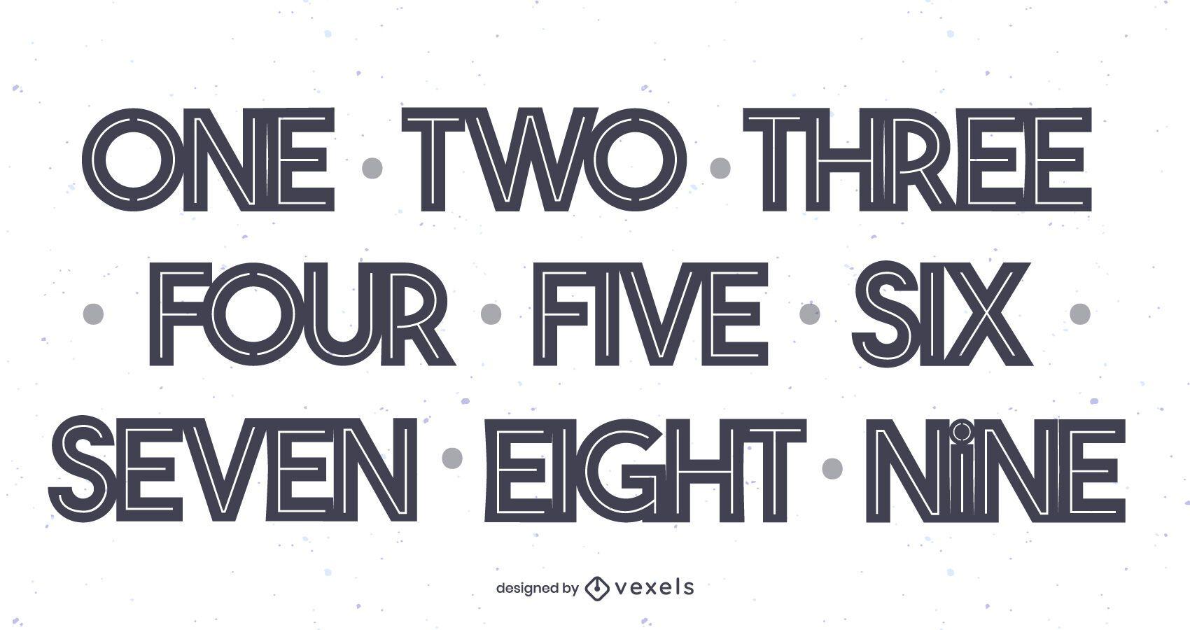 Set de adorno de torta de números