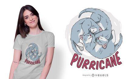 Design de camiseta Purricane