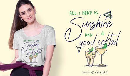 Um bom design de camiseta cocktail