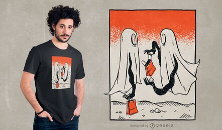 Diseño de camiseta Trick or Treat Ghosts