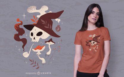 Diseño de camiseta de elementos brillantes de halloween