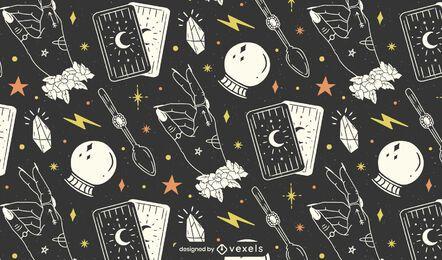 Diseño de patrón místico de Halloween