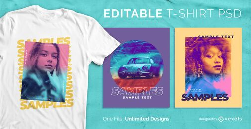 Gradient t-shirt design psd