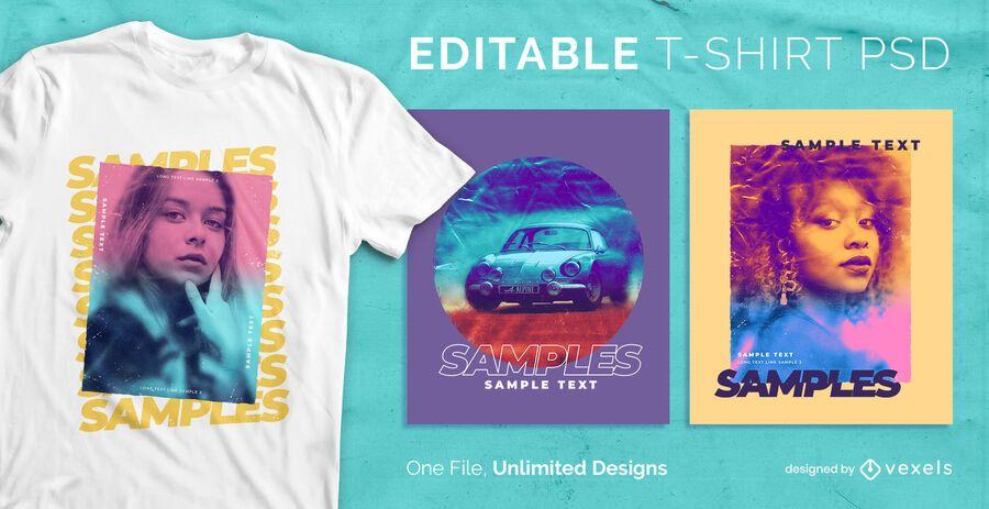 Gradient t-shirt design psd